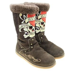 ED HARDY Love Kills Slowly Boots